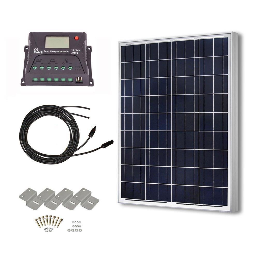 Hqst 100 Watt 12 Volt Polycrystalline Solar Panel Kit With