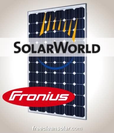 15kW PV Kit SolarWorld 285M Fronius Inverter Roof