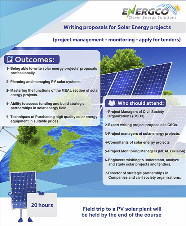 WRITING PROPOSALS FOR SOLAR ENERGY PROJECTS